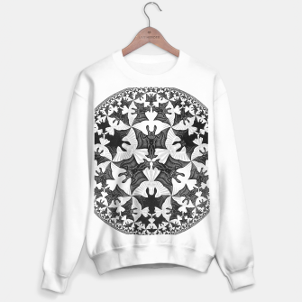 Miniatur Fashion items and decor art of  MC Escher Pattern Circle Angels and Demons Sweater regular, Live Heroes