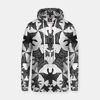 Miniatur Fashion items and decor art of  MC Escher Pattern Circle Angels and Demons Hoodie, Live Heroes