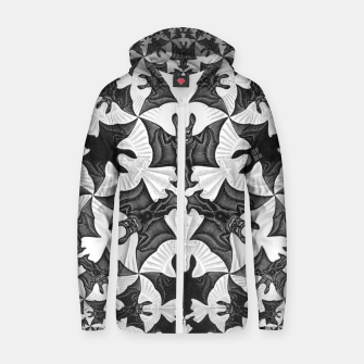 Miniatur Fashion items and decor art of  MC Escher Pattern Circle Angels and Demons Zip up hoodie, Live Heroes