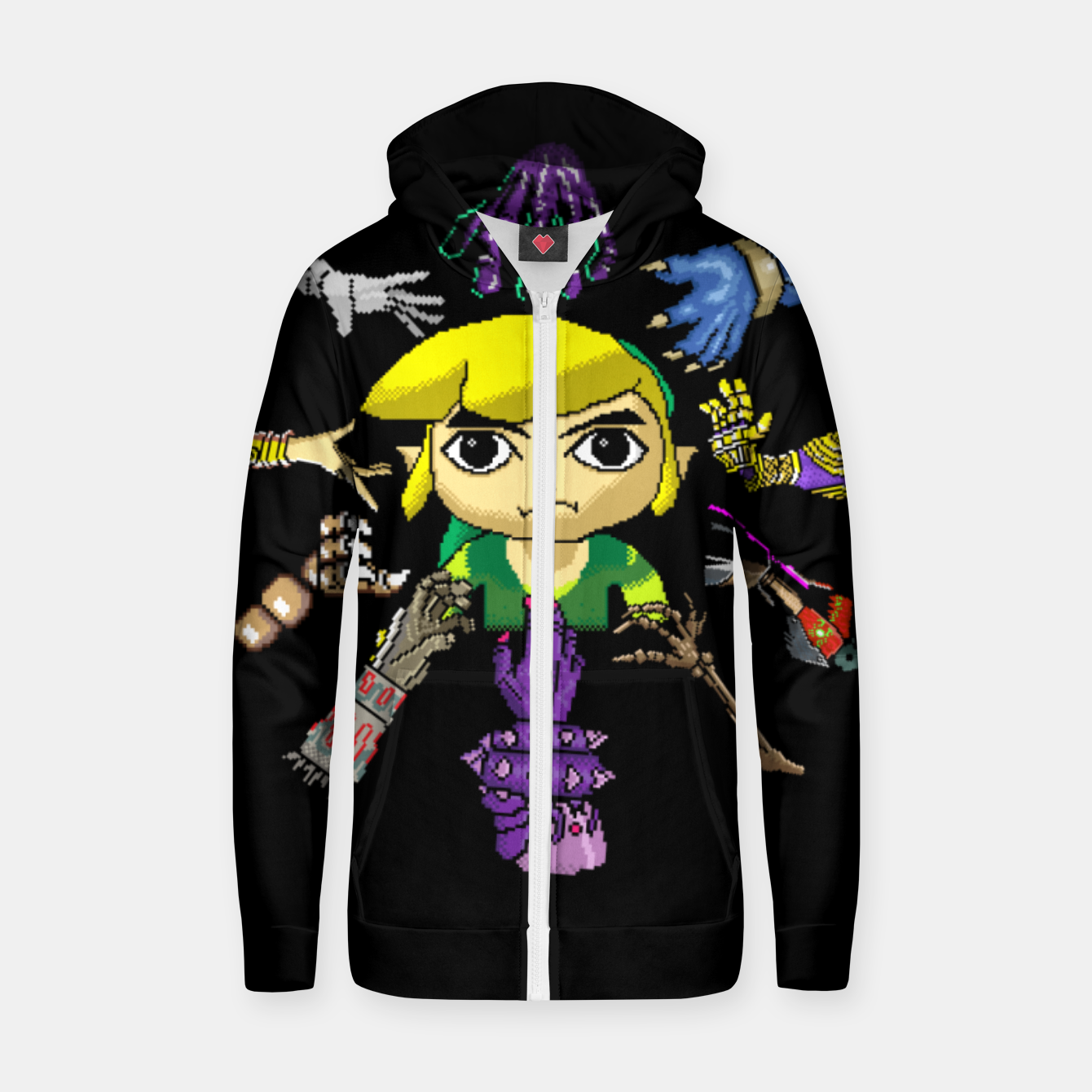 Image of Legend Of Zelda Zip up hoodie - Live Heroes