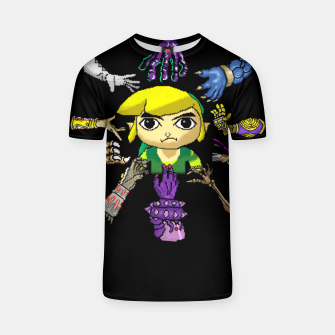 Miniatur Legend Of Zelda T-shirt, Live Heroes