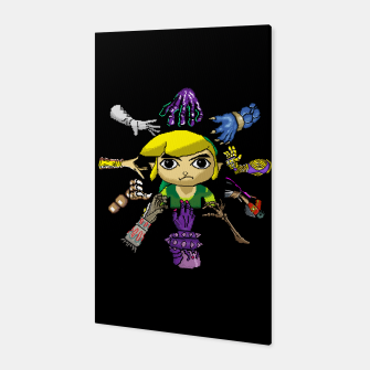 Miniatur Legend Of Zelda Canvas, Live Heroes