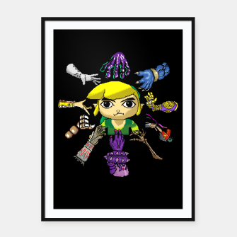 Thumbnail image of Legend Of Zelda Framed poster, Live Heroes