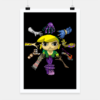 Thumbnail image of Legend Of Zelda Poster, Live Heroes