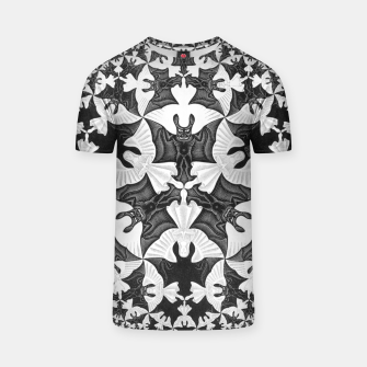 Miniatur Fashion items and decor art of  MC Escher Pattern Circle Angels and Demons T-shirt, Live Heroes