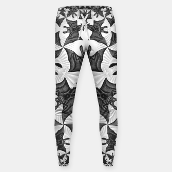 Miniatur Fashion items and decor art of  MC Escher Pattern Circle Angels and Demons Sweatpants, Live Heroes