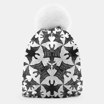 Miniatur Fashion items and decor art of  MC Escher Pattern Circle Angels and Demons Beanie, Live Heroes