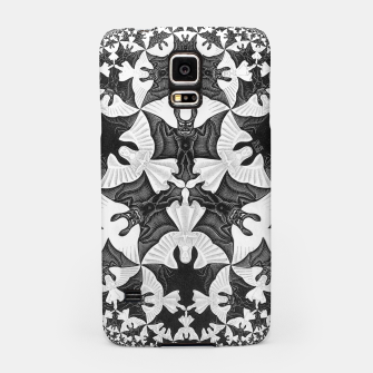 Miniatur Fashion items and decor art of  MC Escher Pattern Circle Angels and Demons Samsung Case, Live Heroes