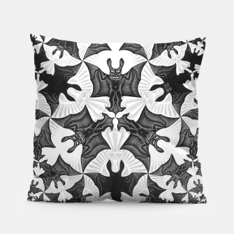 Miniatur Fashion items and decor art of  MC Escher Pattern Circle Angels and Demons Pillow, Live Heroes