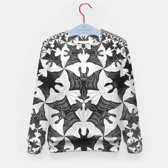 Miniatur Fashion items and decor art of  MC Escher Pattern Circle Angels and Demons Kid's sweater, Live Heroes