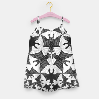 Miniatur Fashion items and decor art of  MC Escher Pattern Circle Angels and Demons Girl's dress, Live Heroes