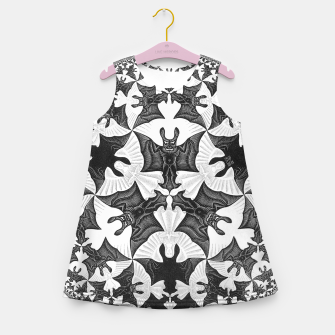 Miniatur Fashion items and decor art of  MC Escher Pattern Circle Angels and Demons Girl's summer dress, Live Heroes