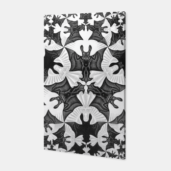 Miniatur Fashion items and decor art of  MC Escher Pattern Circle Angels and Demons Canvas, Live Heroes