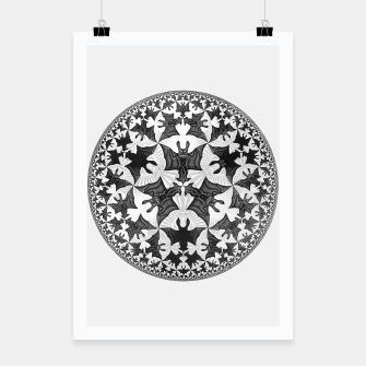 Miniatur Fashion items and decor art of  MC Escher Pattern Circle Angels and Demons Poster, Live Heroes