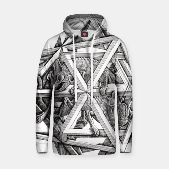 Thumbnail image of Fashion art and decor items of MC Escher Kaleidoscope Chameleon in a cage Hoodie, Live Heroes