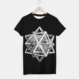 Thumbnail image of Fashion art and decor items of MC Escher Kaleidoscope Chameleon in a cage T-shirt regular, Live Heroes
