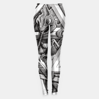 Thumbnail image of Fashion art and decor items of MC Escher Kaleidoscope Chameleon in a cage Leggings, Live Heroes