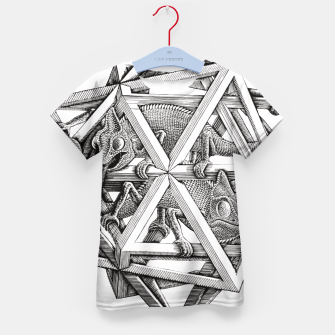 Thumbnail image of Fashion art and decor items of MC Escher Kaleidoscope Chameleon in a cage Kid's t-shirt, Live Heroes