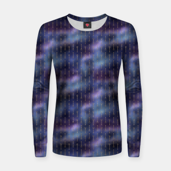 Miniatur Purple Blue and Gold Mermaid Glitter Tridents Women sweater, Live Heroes