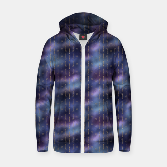 Thumbnail image of Purple Blue and Gold Mermaid Glitter Tridents Zip up hoodie, Live Heroes