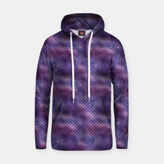 Thumbnail image of Purple and Blue Mermaid Glitter Scales Hoodie, Live Heroes