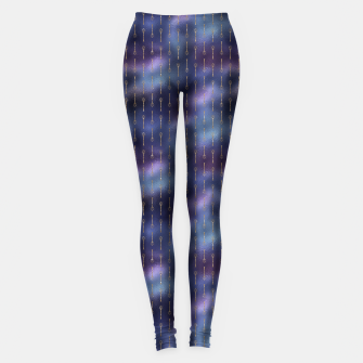 Thumbnail image of Purple Blue and Gold Mermaid Glitter Tridents Leggings, Live Heroes