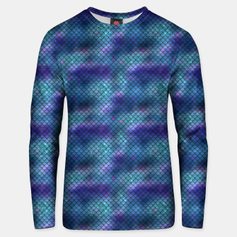 Miniatur Aqua Blue and Pink Mermaid Glitter Scales Unisex sweater, Live Heroes