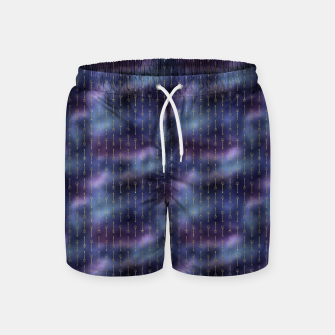 Thumbnail image of Purple Blue and Gold Mermaid Glitter Tridents Swim Shorts, Live Heroes
