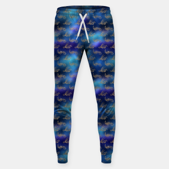 Miniatur Blue and Gold Mermaid Glitter Sea Monsters Sweatpants, Live Heroes