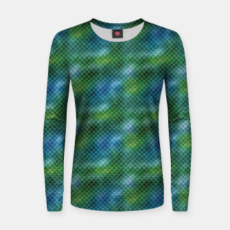 Miniaturka Lime Green and Aqua Blue Mermaid Glitter Scales Women sweater, Live Heroes