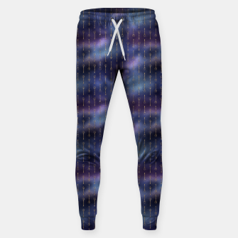 Miniatur Purple Blue and Gold Mermaid Glitter Tridents Sweatpants, Live Heroes