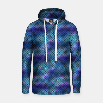 Thumbnail image of Aqua Blue and Pink Mermaid Glitter Scales Hoodie, Live Heroes