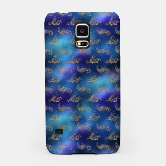 Miniatur Blue and Gold Mermaid Glitter Sea Monsters Samsung Case, Live Heroes
