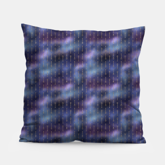 Thumbnail image of Purple Blue and Gold Mermaid Glitter Tridents Pillow, Live Heroes