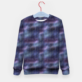 Thumbnail image of Purple Blue and Gold Mermaid Glitter Tridents Kid's sweater, Live Heroes