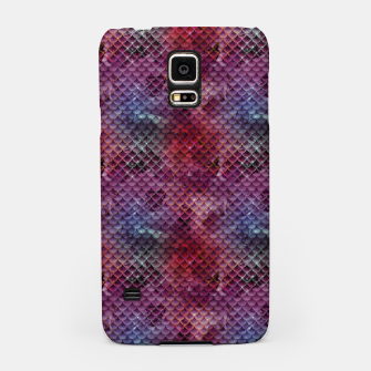 Miniatur Purple and Pink Mermaid Glitter Scales Samsung Case, Live Heroes