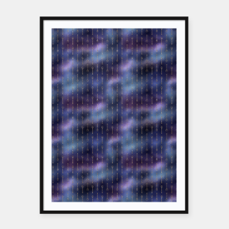 Thumbnail image of Purple Blue and Gold Mermaid Glitter Tridents Framed poster, Live Heroes