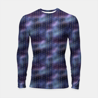 Thumbnail image of Purple Blue and Gold Mermaid Glitter Tridents Longsleeve rashguard , Live Heroes