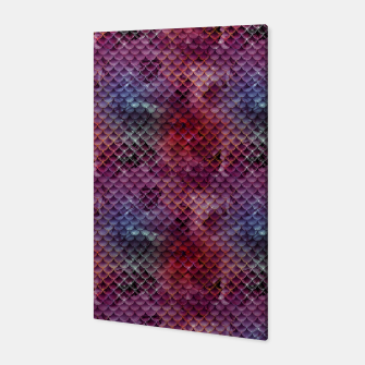 Miniatur Purple and Pink Mermaid Glitter Scales Canvas, Live Heroes