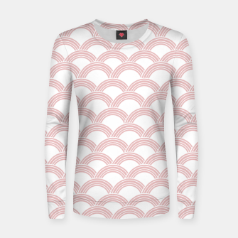 Japanese Wave Blush Glam #1 #decor #art  Frauen sweatshirt Bild der Miniatur