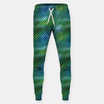 Miniaturka Lime Green and Aqua Blue Mermaid Glitter Scales Sweatpants, Live Heroes