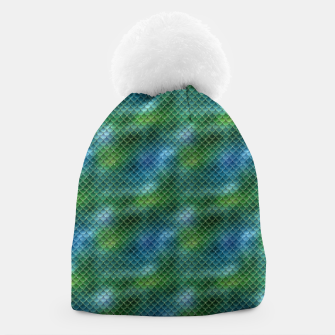 Miniaturka Lime Green and Aqua Blue Mermaid Glitter Scales Beanie, Live Heroes
