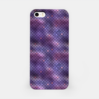 Miniatur Purple and Blue Mermaid Glitter Scales iPhone Case, Live Heroes