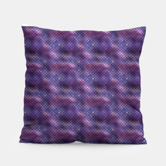 Miniatur Purple and Blue Mermaid Glitter Scales Pillow, Live Heroes