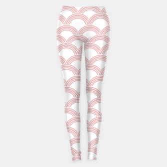 Japanese Wave Blush Glam #1 #decor #art  Leggings Bild der Miniatur