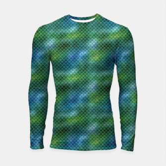 Miniaturka Lime Green and Aqua Blue Mermaid Glitter Scales Longsleeve rashguard , Live Heroes
