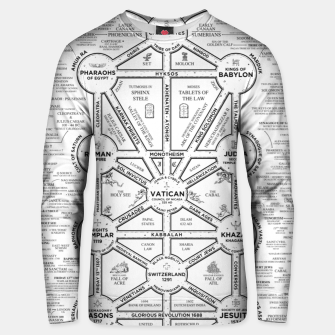 Thumbnail image of fashion art and decor items of Cult of Baal infographic tree Unisex sweater, Live Heroes