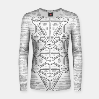 Thumbnail image of fashion art and decor items of Cult of Baal infographic tree Women sweater, Live Heroes