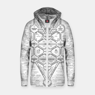 Thumbnail image of fashion art and decor items of Cult of Baal infographic tree Zip up hoodie, Live Heroes