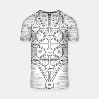 Thumbnail image of fashion art and decor items of Cult of Baal infographic tree T-shirt, Live Heroes